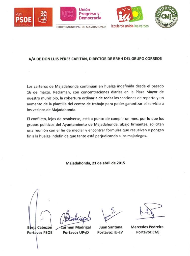 La oposici n de majadahonda solicita una reuni n con el for Oficina de correos las rozas